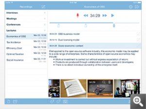 会議にうってつけ。メモや画像が付けられる多機能録音アプリ