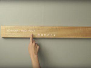 日本の美が先端技術と融合した木製インテリア型インターフェース
