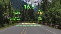 あらゆる情報を表示するサイクリスト用スマートグラス
