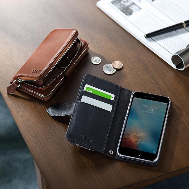 【iPhone 6s/6】ケースにカードも小銭も収納