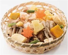 〈美濃吉〉彩り松茸ごはん