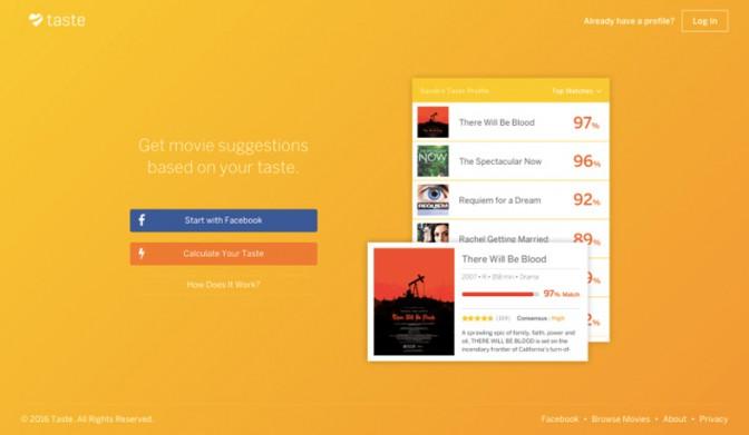 好みの傾向でオススメの映画を教えてくれるサイト