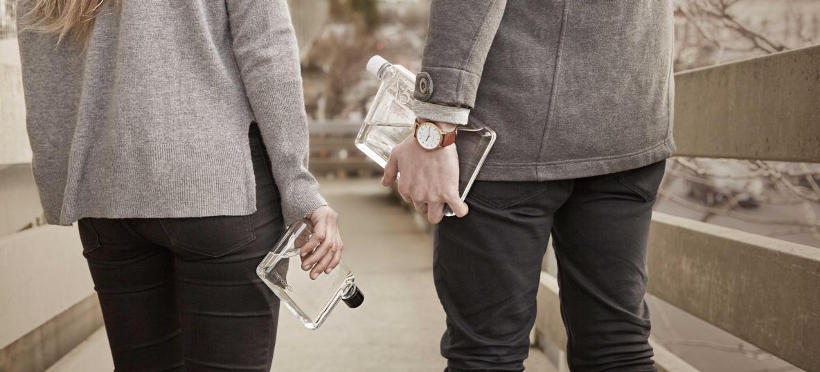 【グッドデザイン賞】ノート型水筒で通勤鞄をスタイリッシュにできる。