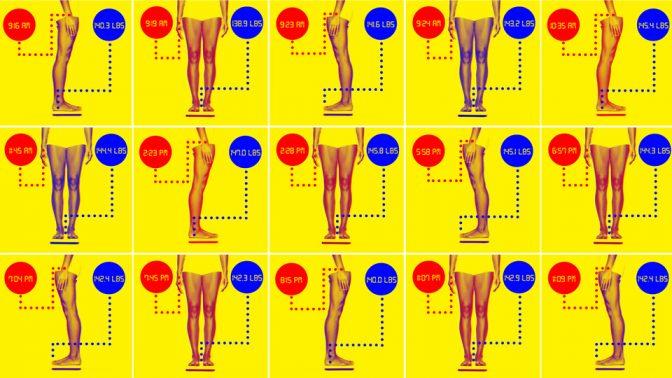 体重は一日の最も重い時と軽い時とで、○○㎏も差があるという驚愕事実