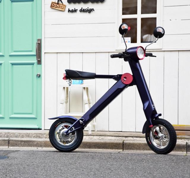 【レジャー・普段使い】小さいけれど頼れるヤツ、折りたたみ電動バイク「UPQ BIKE me01」