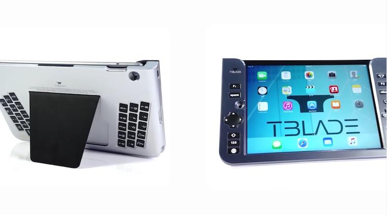 背面キーボード搭載のiPad用ケース「T-BLADE」