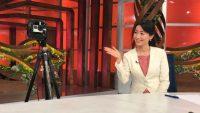 WBS大江キャスターとバーチャル共演できる360度動画