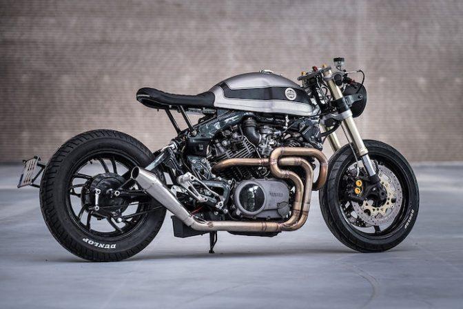 ヤマハのカスタムバイク。洗練された金属美をとくとご覧あれ