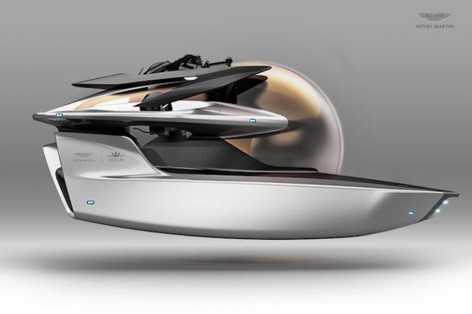 アストンマーティンが高級潜水艦を開発中!! そのデザインが痺れる
