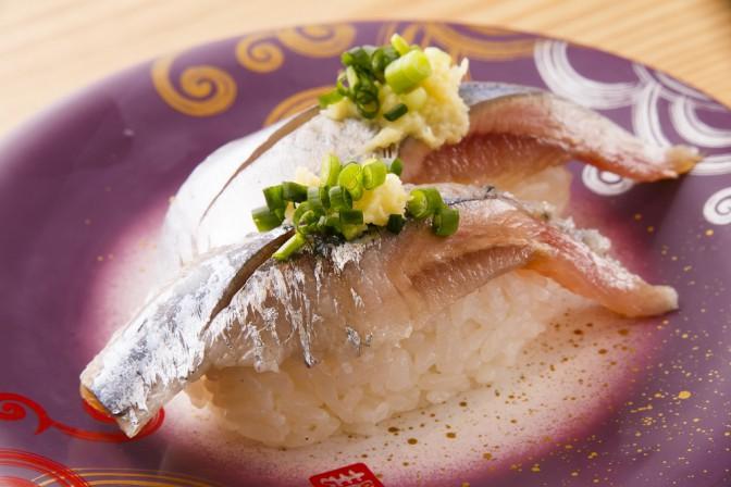 秋刀魚の握り 280円(税別) 1