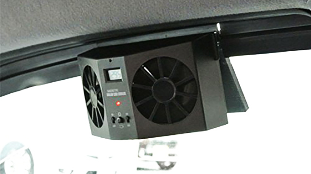 【駐車後の車内のムワッ】車内の空気を強制排出するファン