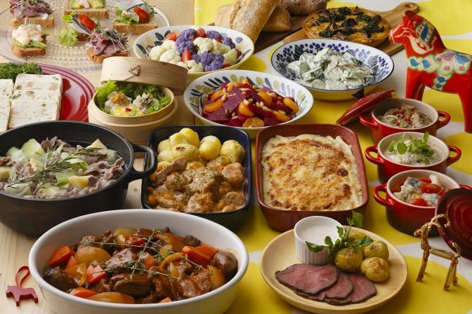 北欧料理のビュッフェ
