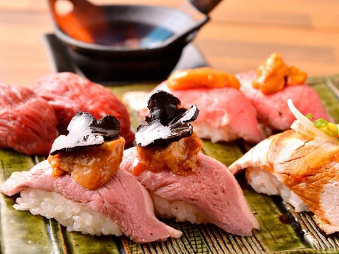 横浜 肉寿司
