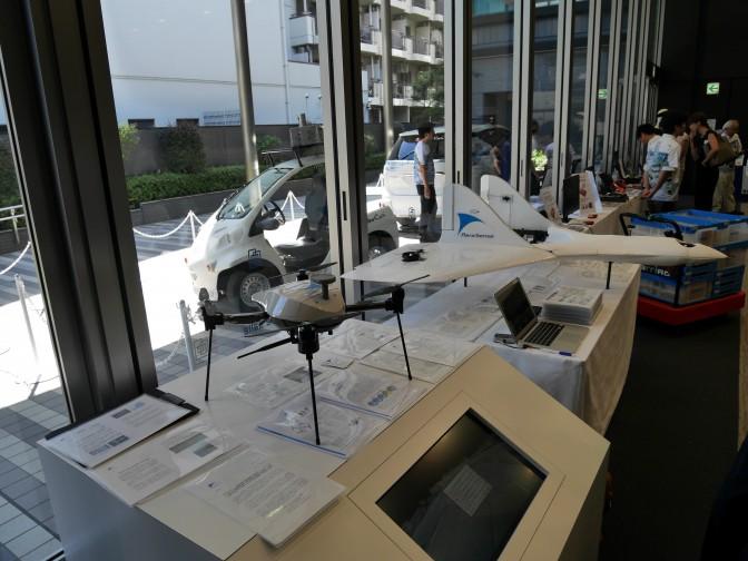 「ZMPフォーラム2016」に展示されるエアロセンスのドローン