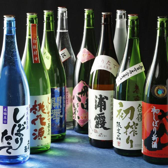 しぼりたて日本酒を飲み比べ