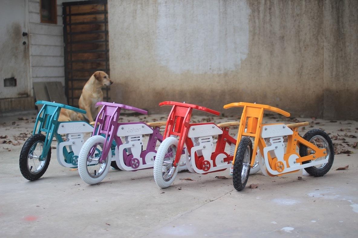 老舗バイクメーカーにインスパイアされ開発された、組み立て型キッズバイク