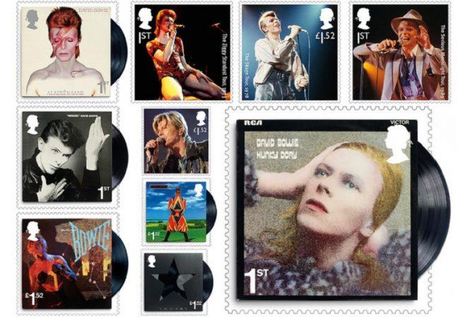 名盤ジャケぞろい...。英国でデヴィッド・ボウイの記念切手発売へ 2