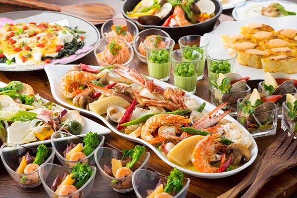 食べ放題 地中海のシーフード