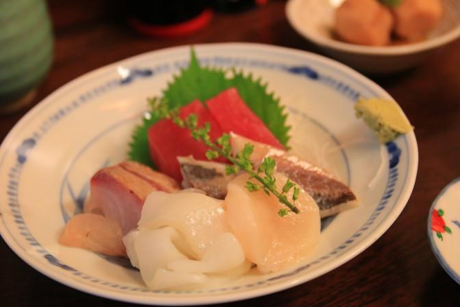 「かとう」の刺身盛り合わせ定食