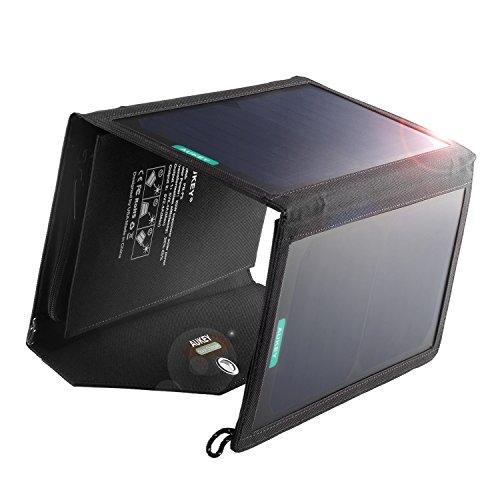AUKEY ソーラーチャージャーパネル 20W 2USBポート 折り畳み式