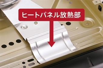 カセットフーマーベラスに備え付けられたヒートパネル