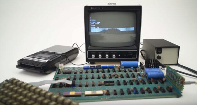 コンピュータ界の奇跡! 起動する「Apple I」がオークションに出品