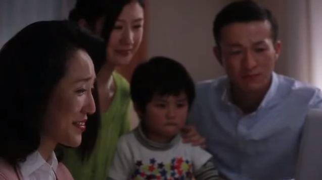 感動 CM 「亡き父からのビデオレター 家族への想い」篇