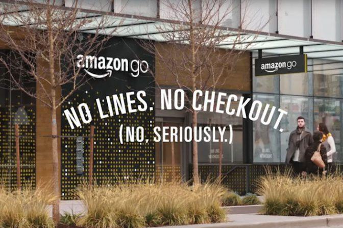 店を出る時に自動で会計できるスーパーがオープン