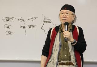 松本零士特任教授による特別授業&ライブペインティング