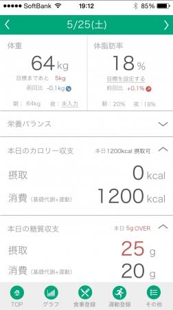 ダイエットアプリ「カロミル」
