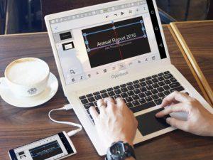 Androidスマホをキーボードとマウスで使うノートPC風デバイス