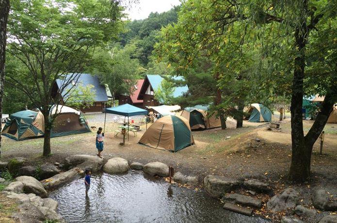 梅雨キャンプって新しいね