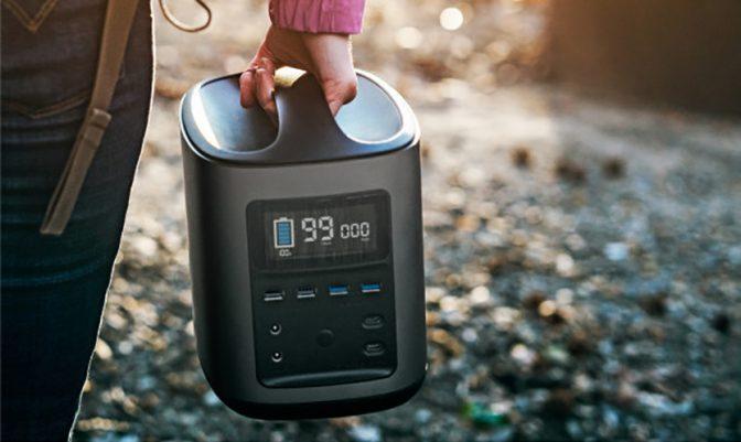 アウトドア好きにオススメ! 持ち運び型大容量バッテリー「RIVER」