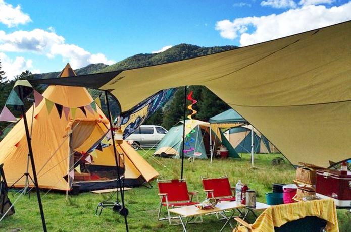 タープで1つ上のキャンプ